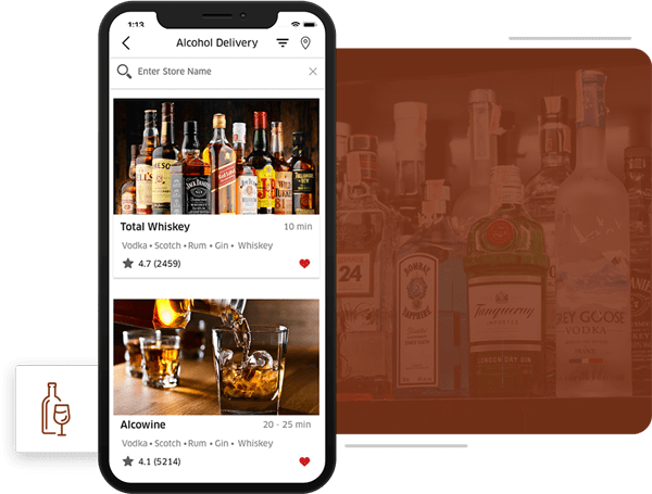 create an app like drizzly and for booze delivery business