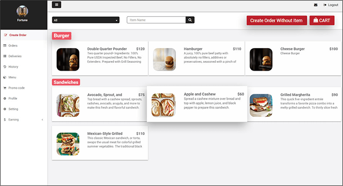 customizable food ordering platform and store panel