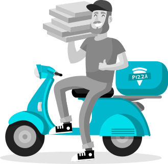 pizza delivery with uber type app