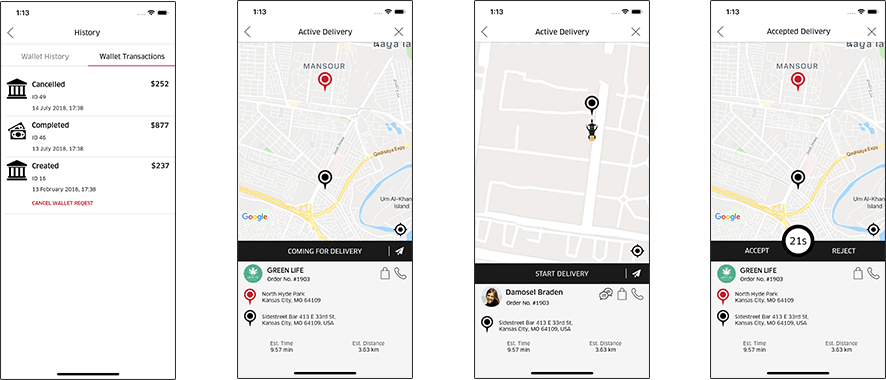 delivery provider app for pot business