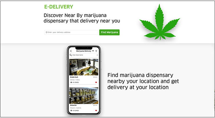 pot delivery website user panel