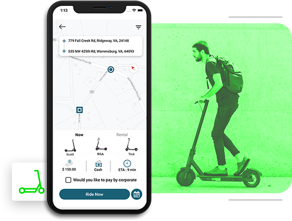 limebike clone app for scooter hailing business