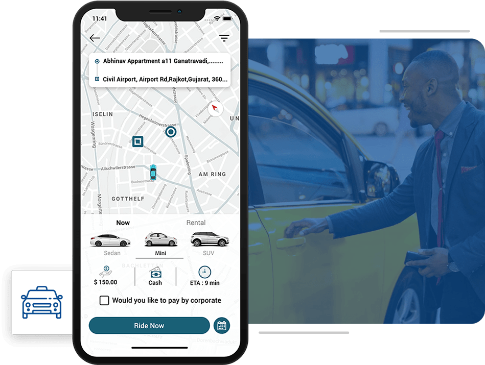 minicab clone app for taxi sharing business