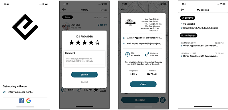 limousine booking mobile application