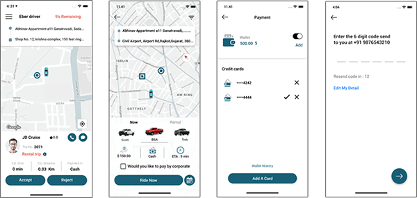 user app of uber for movers